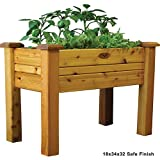 Gronomics EGB 18-34S Elevated Garden Bed, 18-Inch by 34-Inch by 32-Inch, Finished