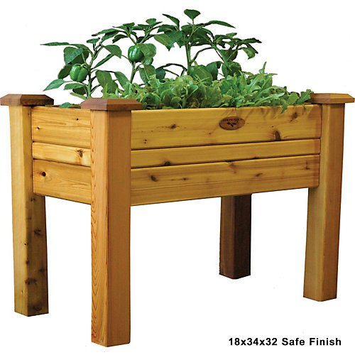 Gronomics EGB 18-34S Elevated Garden Bed, 18-Inch by 34-Inch by 32-Inch, Finished by Gronomics