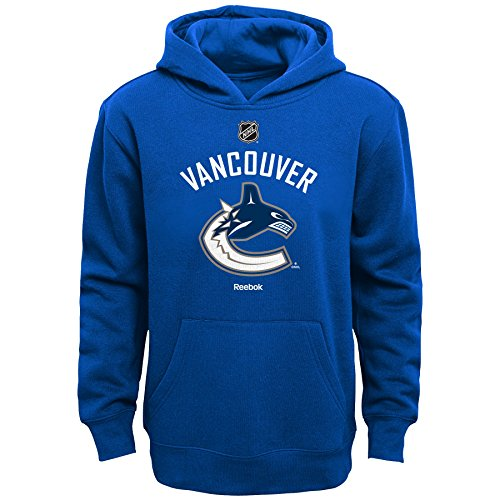 NHL Vancouver Canucks Boys 8-20 Primary Logo Fleece Hoodie, Royal, (Vancouver Canucks Fleece)
