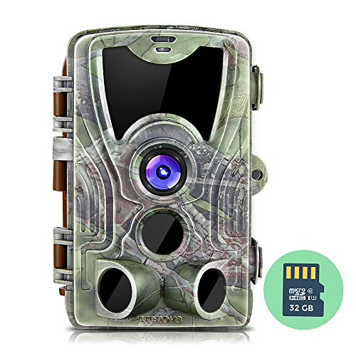 (Crenova 16MP 1080P HD Trail Camera, 2019 Upgraded IP66 Waterproof Game Camera with 120° Wide Detection Angle, Updated 42pcs 940nm IR LEDs Perfect for Wildlife Observation, Hunting & Home Security)