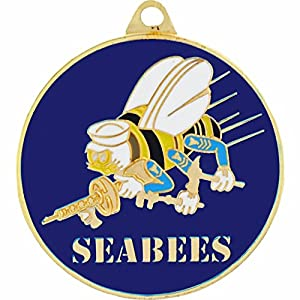 SEABEES Logo Keychain Military Key Ring Collectible Gifts Men Women Veterans