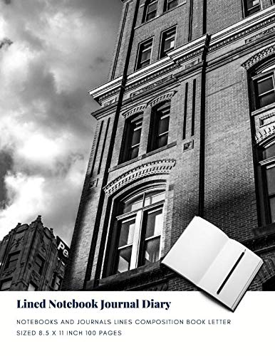 Lined Notebook Journal Diary: Notebooks And Journals Lines Composition Book Letter sized 8.5 x 11 Inch 100 Pages (Volume 60) (Locking Book Composition)