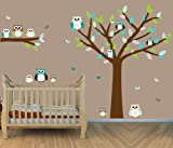 Owl Wall Decals, Owl Stickers, Nursery Room Wall Decals, Baby & Kids Zone