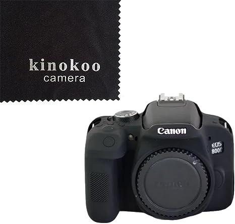 kinokoo Estuche para cámara Canon Fabricado en Material de Cuero PU Funda de Silicona Ligera para Canon EOS 800D(Negro): Amazon.es: Electrónica