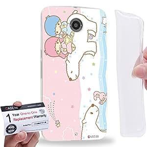 Case88 [Motorola Nexus 6] Gel TPU Carcasa/Funda & Tarjeta de garantía - Little Twin Star Kiki And Lala Dreamy Diary 1318