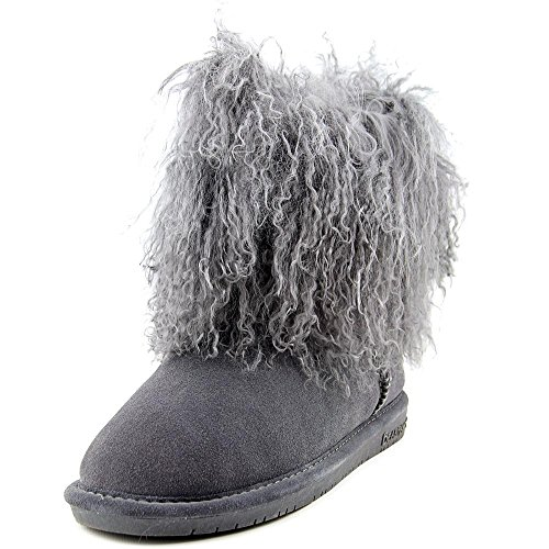 Bearpaw Womens Boo Leather Closed Toe Mid-Calf Fashion Boots, Charcoal, Size 5.0 by BEARPAW