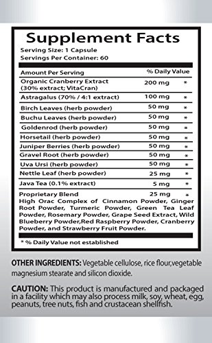 Prostate Relief - Kidney Support Complex - Astragalus Root Extract - 6 Bottles 360 Capsules by PL NUTRITION (Image #1)