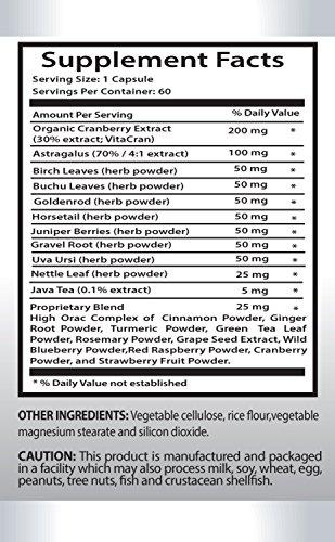 Bladder Health Supplement - Kidney Support Complex - Bladder Support for Men - 6 Bottles 360 Capsules by PL NUTRITION (Image #1)