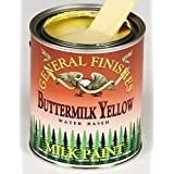 General Finishes Water Based Milk Paint Buttermilk Yellow Quart
