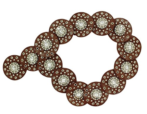 Nocona Women's Wide Concho Disk Waist Belt Brown X-Large