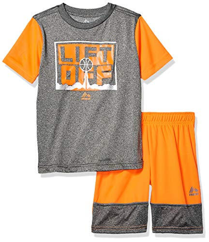 (RBX Boys' Toddler 2 Piece Performance Top and Short Set, Lift Off Charcoal, 2T )