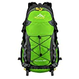 Vbiger Large Capacity Lightweight Travel Water Resistant Backpack / Mountaineering Hiking Daypack (Green 2, 40 L)