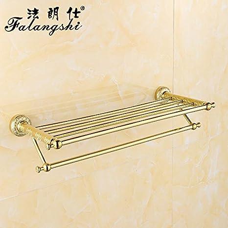 LHbox Tap Puntilla de Oro Rosa de Oro Cobre Toallas Toallas de baño WC Estanterías Metálicas, Oro: Amazon.es: Hogar