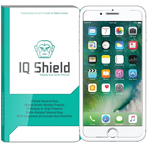 iPhone 7 Plus Screen Protector, IQ Shield Tempered Ballistic Glass Screen Protector for iPhone 7 Plus (Version 2) HD & Shatter-Proof Shield