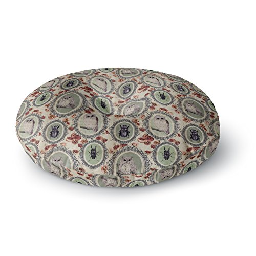 KESS InHouse Dlkg Design Camafeu Gray Beetles Round Floor Pillow, 26