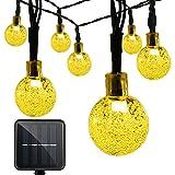 Vmanoo Christmas Solar Powered Globe Lights,30 LED (19.7 Feet) Globe Ball Fairy String Light for Outdoor, Xmas Tree, Garden, Patio, Home, Lawn, Holiday, Wedding Decor, Party (Warm White)