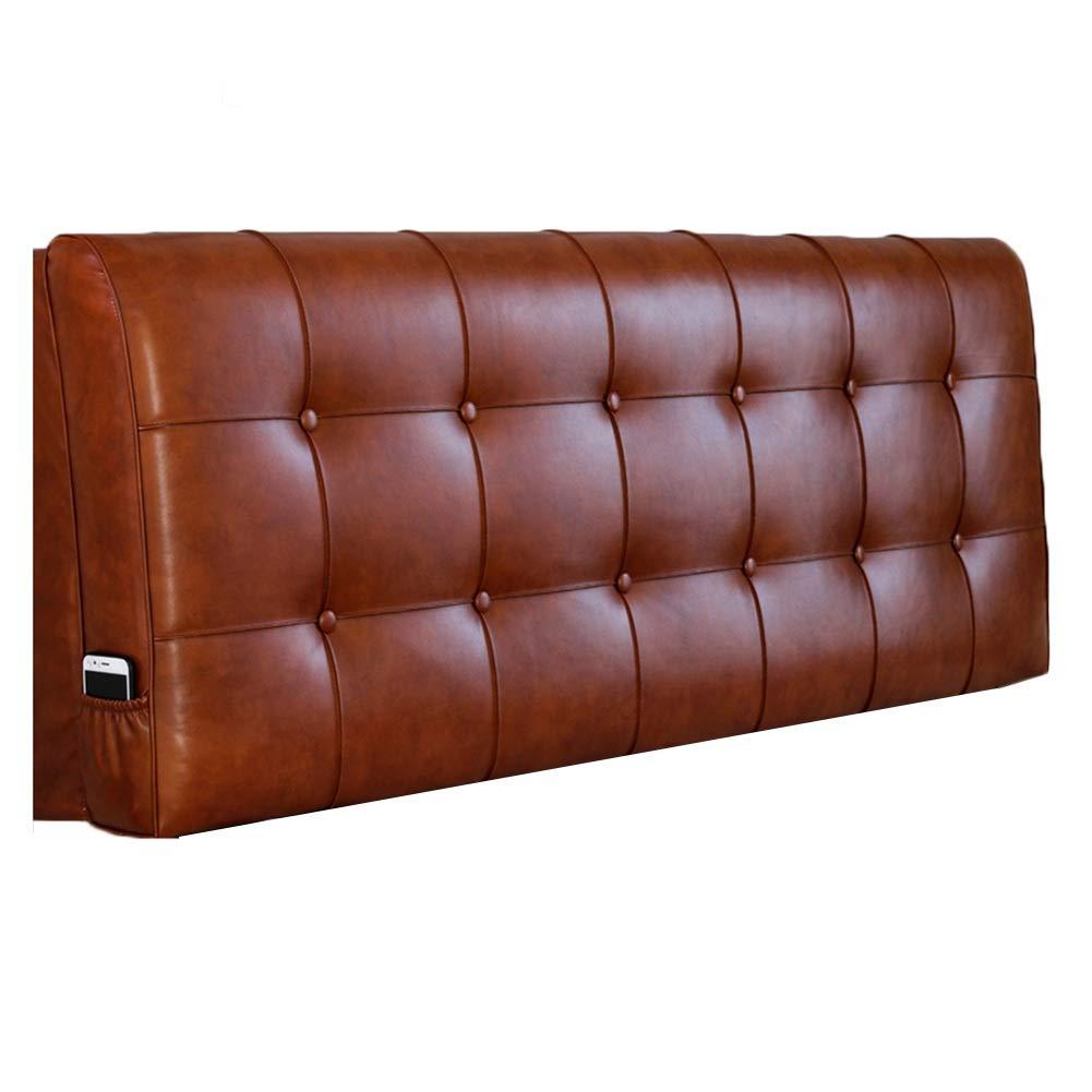 A 150X58X10cm WENZHE Upholstered Fabric Upholstered Headboard Bedside Cushion Wedges Backrest Waist Pad Home Sponge Soft Case Multifunction Backrest, 6 colors (color   B, Size   200X58X10cm)