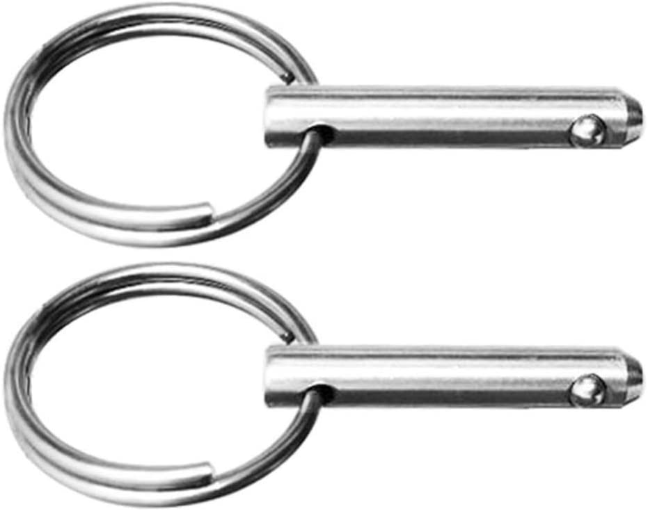 CLISPEED 2PCS Stainless Steel Quick Release Pin Practical Bimini Pins Spring Pins Marine Safety Pins Marine Boat Pin for Accessories Parts Hardware