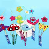 FelixStore Random Color Cartoon Animal Wind Chime for ren Creative Handmade DIY Wind Bell Educational Ornaments Craft for s