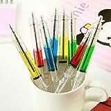 4Pcs Syringe Ballpoint Pen Random Color Needle Refill Ink Blue Bulk Novelty Blood Office School Funny Art Gift