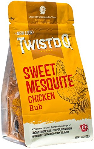 Twist'd Q Sweet Mesquite Chicken Rub  Caveman Cuisine