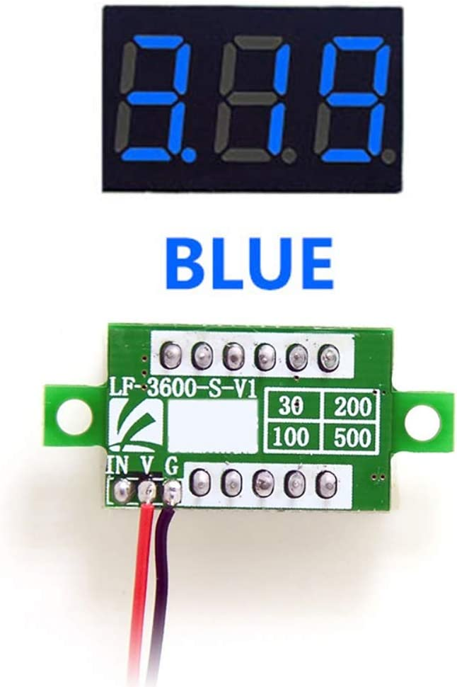 Balai 0.36 DC 0-100 V 3 Digital /& Farben Messger/ät Spannungsmessger/ät f/ür zu Hause Auto Motor