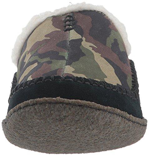 Herren Sorel Schwarz Ridge Leder Camo Falcon Pantoffeln wIqx6fnrIv