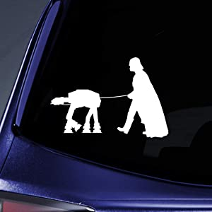 "Bargain Max Decals Vader Walking Robot Sticker Decal Notebook Car Laptop 5.5"" (White)"