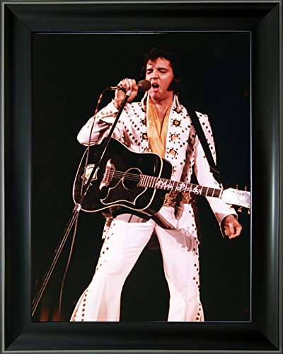 - Lee's Collection Holographic Picture with Black 19 inches x 15 inches Elvis Presley 3D Animated Picture & Black Frame