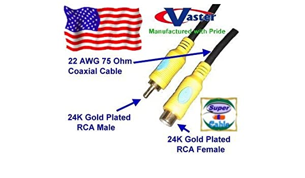 Digital Video Cable coaxial, 24 K, S/PDIF Subwoofer Altavoz ...