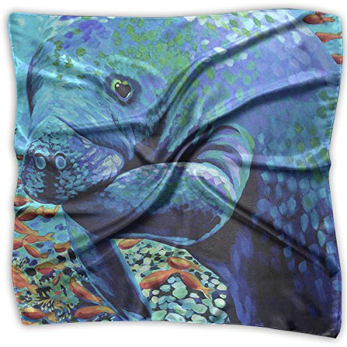 Affordable Manatees Women's Large Square Satin Head, used for sale  Delivered anywhere in Canada