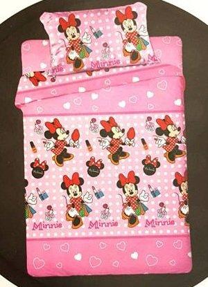 Completo Letto Lenzuola Singolo Disney Minnie Cotone set Sopra Sotto con angoli Federa