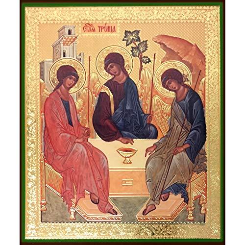 World Faith Religious Icon Old Testament Trinity Icon 8-1/4 Inches Icon