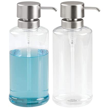 16aa56570443 mDesign Extra Large Modern Plastic Refillable Liquid Soap Dispenser Pump  Bottle for Kitchen Sink, Bathroom Vanity Countertop - Holds Dish Soap, Hand  ...