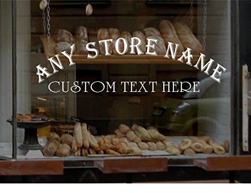 StickerLoaf Brand Arched STORE NAME WINDOW DECAL BUSINESS SHOP Storefront VINYL SIGN bakery deli pub bar grill restaurant hair nail salon boutique (Arched Decal)