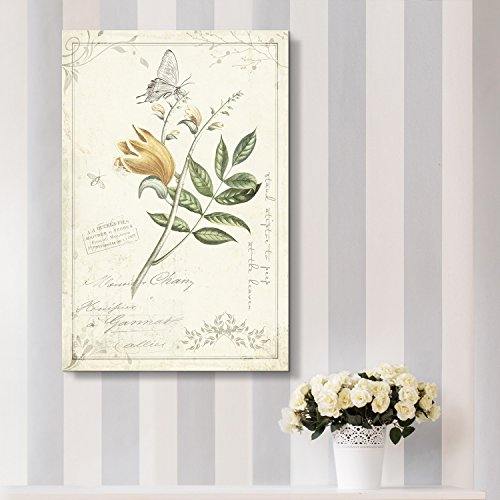 Vintage Style Flower on The Branch with Butterfly