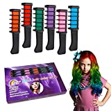#5: Temporary Hair Color Chalk Combs Kit for Girls Hair Salon Games, Birthday Party,Cosplay and Halloween Hair Dyeing - Pretty Gifts for Kids