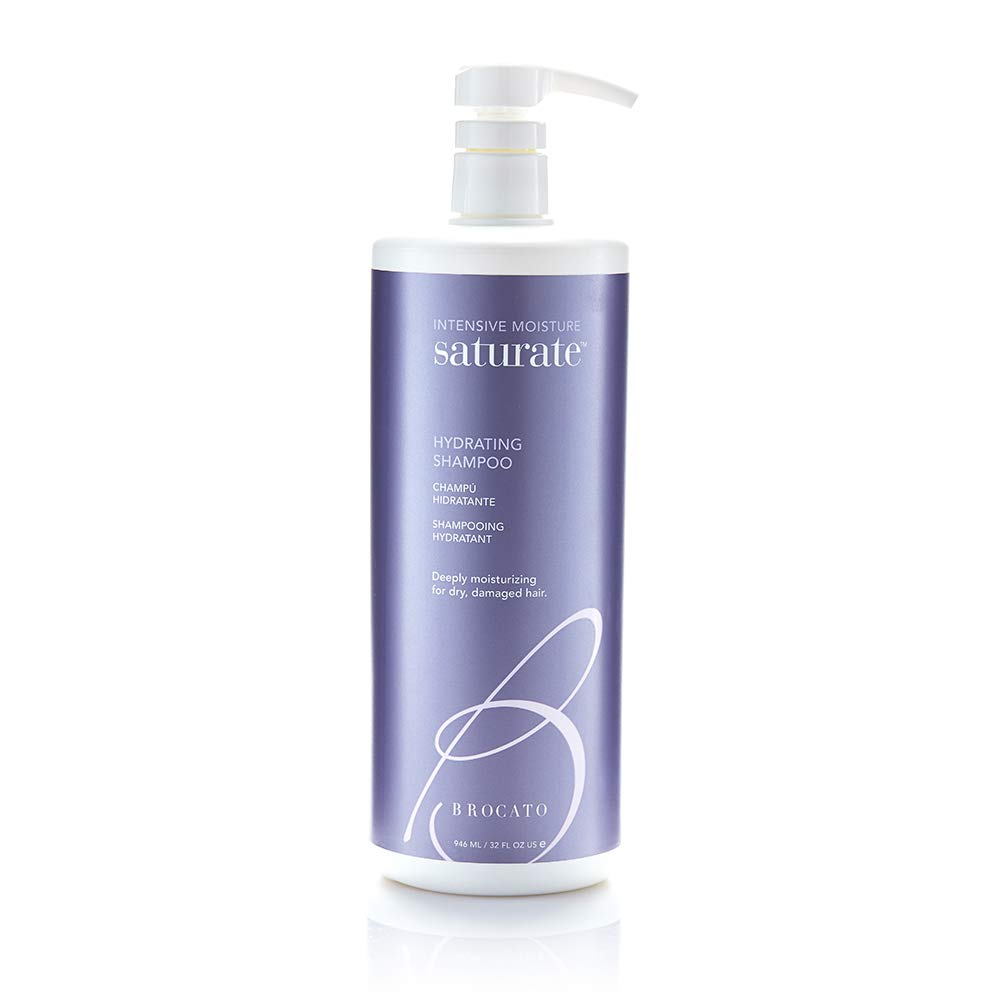Brocato Saturate Daily Hair Shampoo: Intensive Moisture Hydrating Shampoo for Dry, Damaged Hair - Moisturizing Formula Safe for Color Treated Hair - Contains No Sulfate or Parabens - 32 Oz