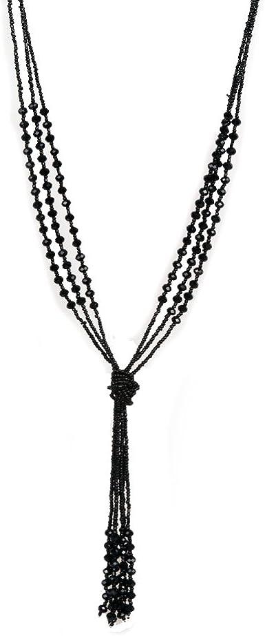 48 Inch Black Plastic 8 MM Bead Necklace Vintage 70 Necklace Black Bead Necklace Black Long Necklace