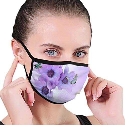 Funny Mouth Cover Dustproof Washable Reusable Summer Exotic Flowers Butterfly Fashion Respirator Protective Safety Warm Windproof for Women Men
