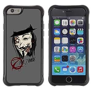 LASTONE PHONE CASE / Suave Silicona Caso Carcasa de Caucho Funda para Apple Iphone 6 / Z For Zombie