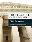 High Court Case Summaries, Civil Procedure (Keyed to Marcus 6th), Publishers Editorial Staff, 1628106816