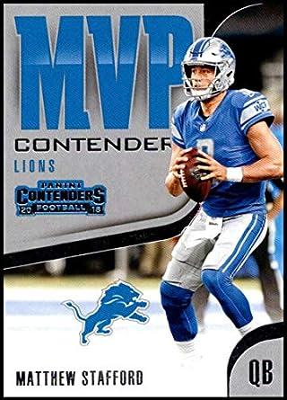 2018 Contenders MVP Contenders Football  MVP-7 Matthew Stafford Detroit  Lions Official NFL Trading d14349566