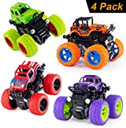 Monster Trucks Inertia Car Toys - Friction Powered Car Toys for Toddlers Kids Birthday Christmas Party Supplie