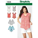 Simplicity 1806 Misses' Tops Sewing Pattern, Size U5 (16-18-20-22-24)
