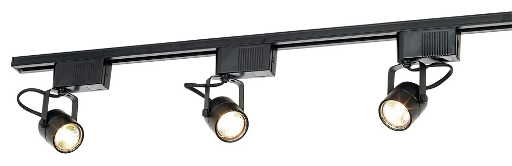 Pro Track Black 150 Watt 3-Light Low Voltage Track Kit - Track Lighting Kits - Amazon.com  sc 1 st  Amazon.com & Pro Track Black 150 Watt 3-Light Low Voltage Track Kit - Track ... azcodes.com