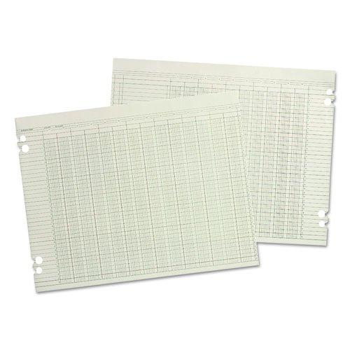 Accounting Sheets, 10 Column, 9-1/4 x 11-7/8, 100 Loose Sheets/Pack, Green ()