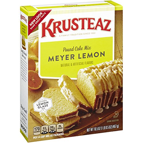 Krusteaz Meyer Lemon Pound Cake Mix, 16.5-Ounce Boxes (Pack of (Meyer Lemon Cake)