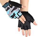Girls Boys Half Finger Cycling Gloves Sport GYM Gloves Racing Mitts Non-slip Gel Breathable Short Finger Summer Gloves Mountain Road Bike Riding Bicycle Running Gloves