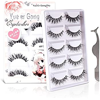 fcd761971d9 Teenitor Anime Eyelashes 20 Pair 20 Desgin Japanese Cosplay Eyelash